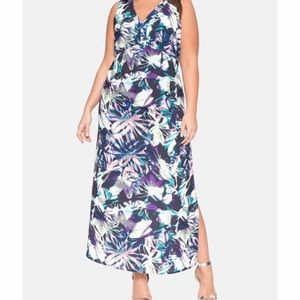 Eloquii multicolored floral sleeves dress size 22